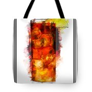 Long Island Iced Tea Cocktail Marker Sketch Tote Bag