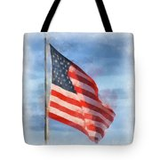 Long May She Wave Tote Bag by Kerri Farley