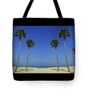 Long Mural Of The Beach Tote Bag