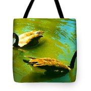 Long Neck Ducks Tote Bag