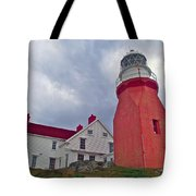 Long Point Lighthouse In Twillingate-nl Tote Bag