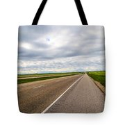 Road To The Sky In Saskatchewan. Tote Bag
