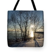 Long Shadows In The Snow Tote Bag