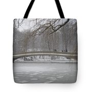 Long Snow Covered Bridge Tote Bag