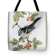 Long Tailed Tit And Rosehips Tote Bag