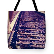 Long Tracks Tote Bag