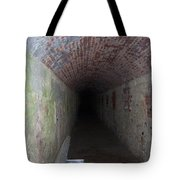 long tunnel in Ft Adams Tote Bag