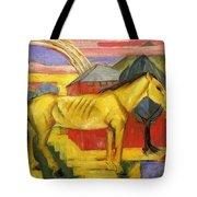 Long Yellow Horse 1913 Tote Bag