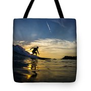 Longboarding Into The Sunset Tote Bag