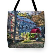 Longfellow's Wayside Inn Grist Mill In Autumn Tote Bag