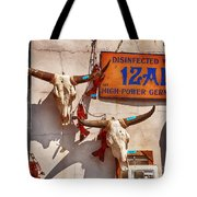 Longhorn Skulls On The Wall Tote Bag