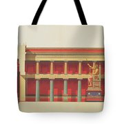 Longitudinal Section Of The Temple Tote Bag