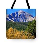 Longs Peak Autumn Aspen Landscape View Tote Bag