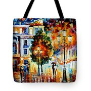 Lonley Couples - Palette Knife Oil Painting On Canvas By Leonid Afremov Tote Bag