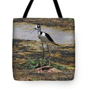 Look Out For That Egret- Mother Stilt Said Tote Bag
