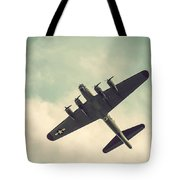 Look Up Vintage B-17 Flying Fortress Tote Bag