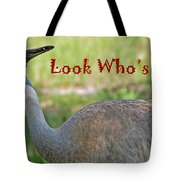 Look Who's 50 Tote Bag