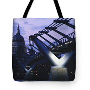 Looking Along The Millennium Bridge Tote Bag