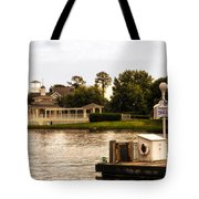 Looking At The Boardwalk Gazebo Walt Disney World Tote Bag