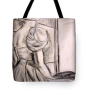 Looking At The Light Tote Bag