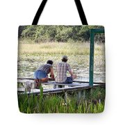 Looking At The Marsh Tote Bag