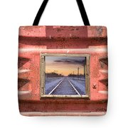 Looking Back Panorama Tote Bag
