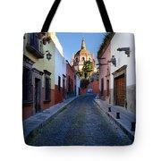 Looking Down Aldama Street, Mexico Tote Bag
