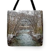 Looking Down Clifty Creek Tote Bag