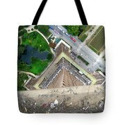 Looking Down From The Eiffel Tower Tote Bag
