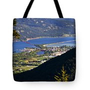 Looking Down On Sandpoint Tote Bag