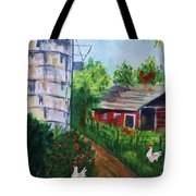 Looking Down On The Farm Tote Bag