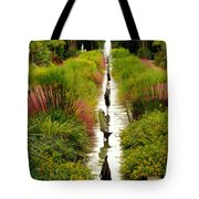 Looking Down Reflection Canal Tote Bag