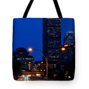 Looking Down The Mass Pike From The Brookline Ave Bridge Tote Bag
