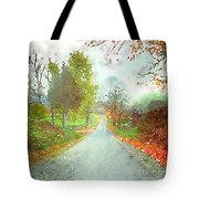Looking Down The Road Tote Bag