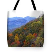Looking Glass Rock And Fall Colors Tote Bag