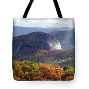 Looking Glass Rock And Fall Folage Tote Bag