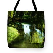 Looking Green And Serene Tote Bag