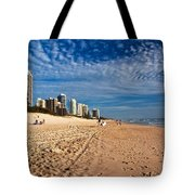 Looking North Along The Beach Tote Bag