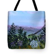 Looking Out From Top Of Jay Peak  Tote Bag