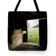 Looking Out Old Barn Tote Bag