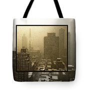Looking Out On A Snowy Day - Nyc Tote Bag