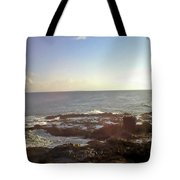 Looking Out Over The Ocean Tote Bag