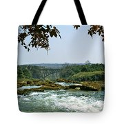 Looking Over The Top Of The Victoria Tote Bag