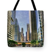 Looking South On Lasalle Tote Bag
