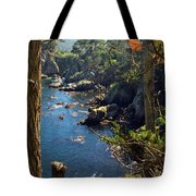 Looking Through The Trees At Point Lobos Tote Bag