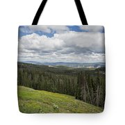 Looking To The Canyon - Yellowstone Tote Bag