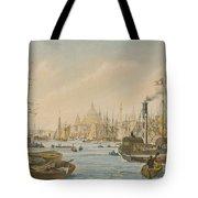 Looking Towards London Bridge Tote Bag by William Parrot