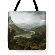 Looking Towards The Val Daosta, Bernese Tote Bag