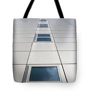 Looking Up At A Modern Building Tote Bag