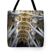 Looking Up At The Sagrada Familia In Barcelona Tote Bag